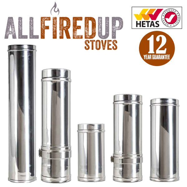 Twin Wall Insulated Flue Pipe Systems 4 Wood Burning Stove