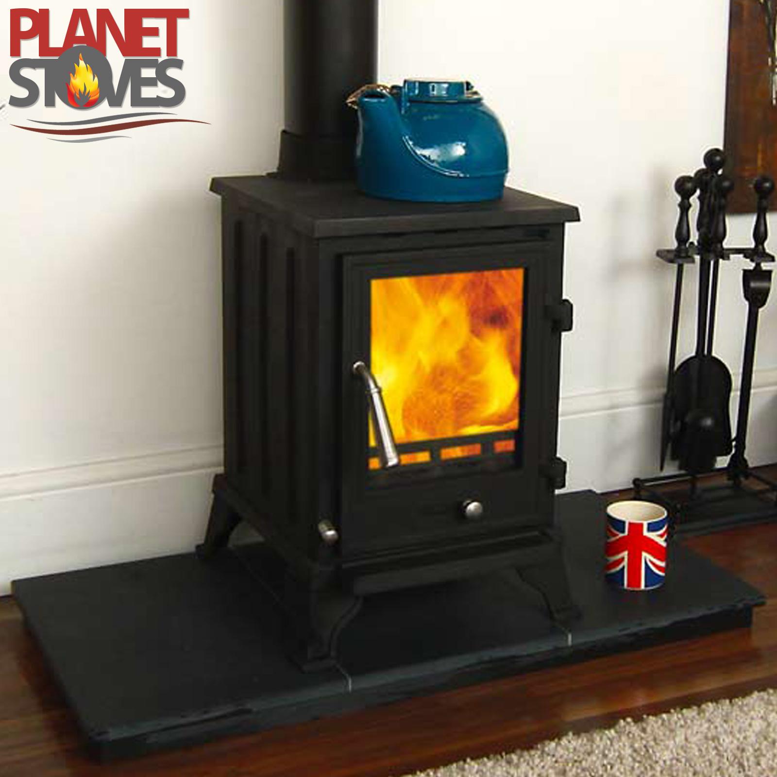 Rosa 5kw Wood Burning Stove Multifuel Log Burner Cast Iron